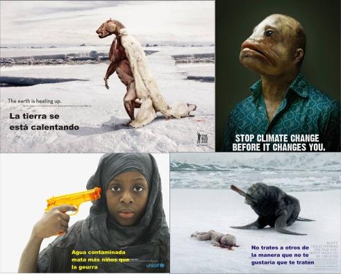 Imágenes que circulan en la red, buscando de manera visual, crear consiencia para cambio de actitudes