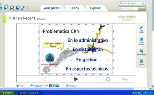 Presentación del Proyecto de Ordenamiento de Recursos Hídricos en la Comisión de Regantes Nepeña