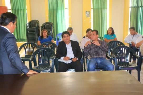 Trabajando la idea inicial de Afianzamiento Hídrico en la Cuenca del Río Casma, con el Alcalde Jhosept Pérez Mimbela