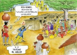 Durante los meses de estiaje las mujeres cargan varios baldes de agua al día, esta situación les impide participar en otras actividades productivas de la comunidad