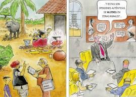 A nivel mundial, las mujeres representan el 50% del empleo informal y el 58% del empleo no remunerado