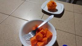 Cenar una fresca papaya