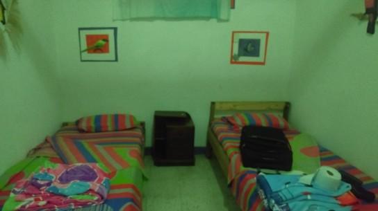 Luego ir al dormitorio, denominado La Felicidad, en una cama de guadua