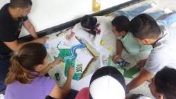 En grupos de trabajo empezamos a construir el concepto participativo de cuenca
