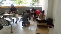 Cada grupo tuvo el tiempo y los medios suficientes para desarrollar y presentar la maqueta de la Finca. De nuevo la creatividad se puso de manifiesto en el desarrollo de la dinámica