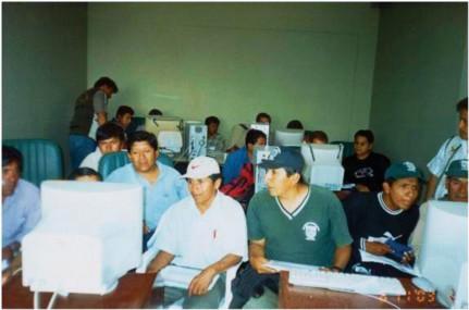 Capacitación en SIG a personal técnico de la Junta y también de la empresa San Jacinto