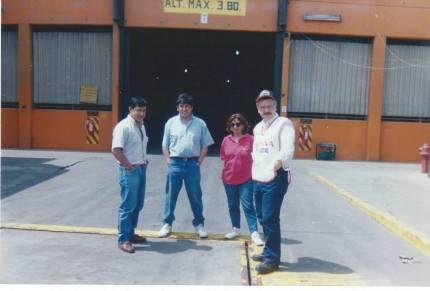 Parte del equipo con los cuales se realizaron estos grandes cambios. de derecha a izquierda: Oscar Ortega, María Mejia, Ivan Vallenas y Ronald Ancajima