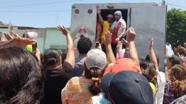 Desorden en la entrega de alimentos